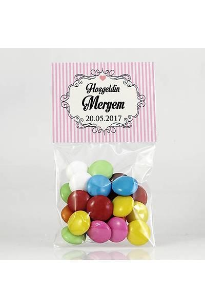 Bonibon Çikolata - Pembe Temalý- Çerçeveli