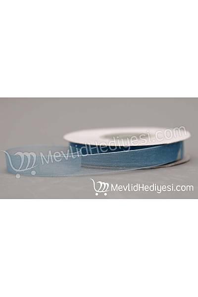 Organze Kurdela 1cm X 22 Metre - Mavi