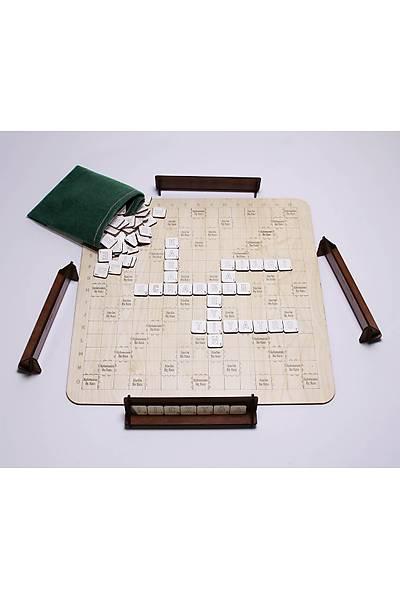 Kelime Üretme Oyunu - Kelime Avý - Yerli Üretim Ahþap Türkçe Scrabble