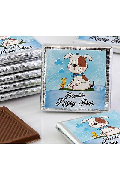 Erkek Bebek Dökme Çikolata - Köpek