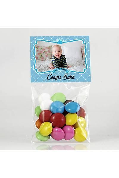 Bonibon Çikolata - Fotoðraflý Mavi Temalý - Çerçeveli