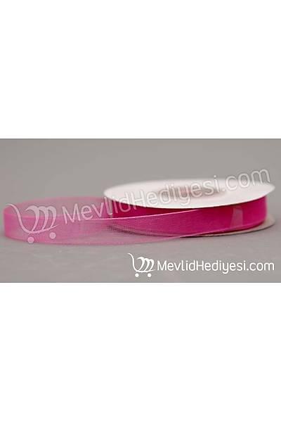 Organze Kurdela 1cm X 22 Metre - Pembe