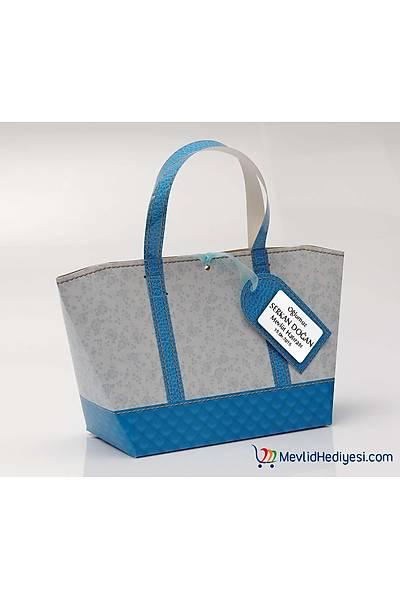 Mavi Tasarým Karton Çanta - Kiþiye Özel