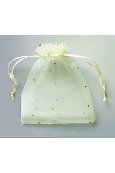 Organze Tül Kese, 9 x 12 cm, Beyaz