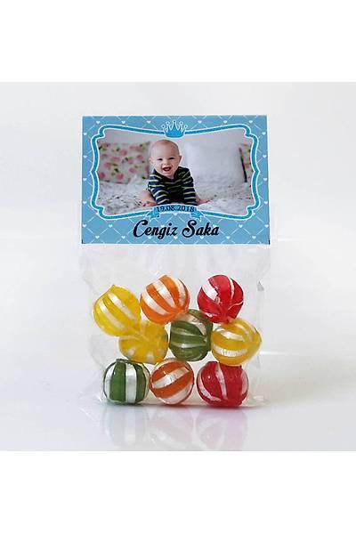 Meyveli Þeker - Fotoðraflý Mavi Temalý - Çerçeveli