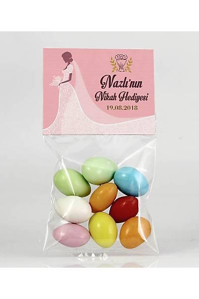 Renkli Çikolatalý Badem - Kýna, Nikah - Gelinlik