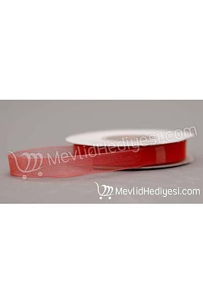 Organze Kurdela 1cm X 22 Metre - Kýrmýzý