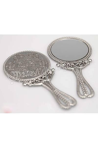 Metal Ayna, Gümüþ Renkli, 10cm X 5cm