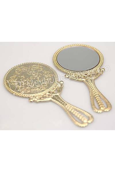 Metal Ayna, Altýn Renkli, 10cm X 5cm