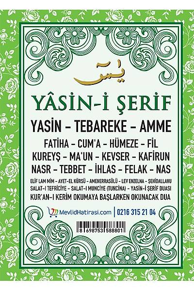 YEÞÝL 2'li Yasin Seti / Tespih