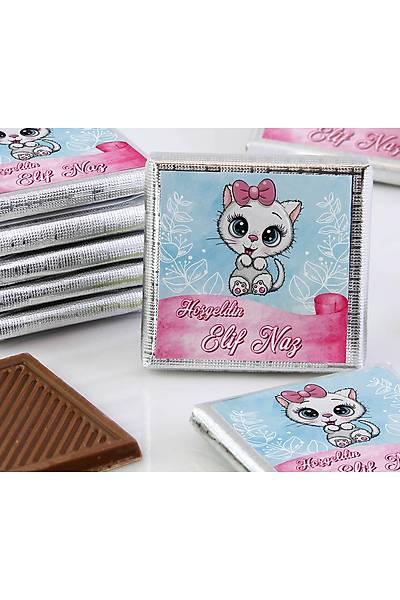 Kýz Bebek Çikolatasý - Kutulu - Kedi
