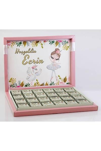Kýz Bebek Çikolatasý - Kutulu - Balerin