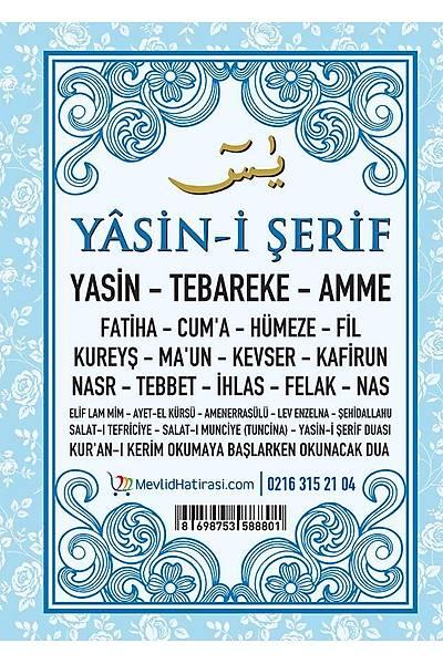MAVÝ 4'lü Yasin Seti / Þeker Kutusu + Tül Kese + Tespih