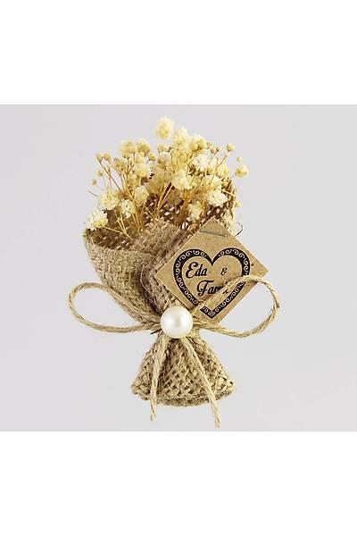 Kuru Çiçek Buketi Model 1, Kokulu-Mıknatıslı Nikah Şekeri