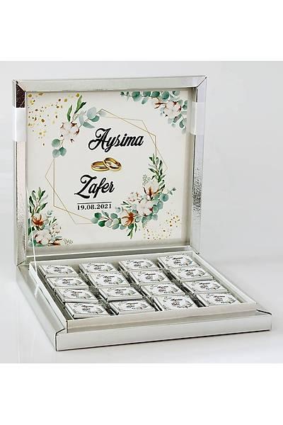 Söz-Niþan Çikolatasý - Kutulu - Kristal, Pamuk Tomurcuk