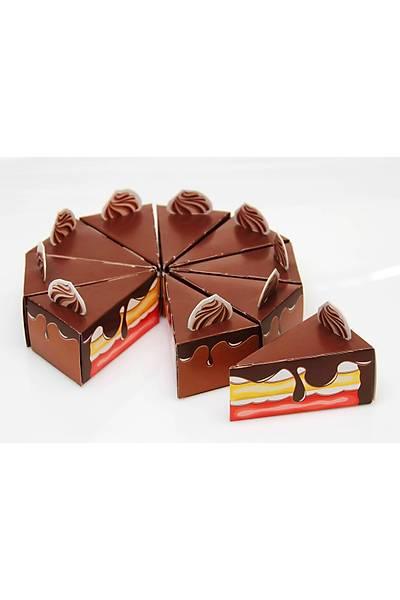 Pasta Dilimi Þeker Kutusu - Çikolatalý