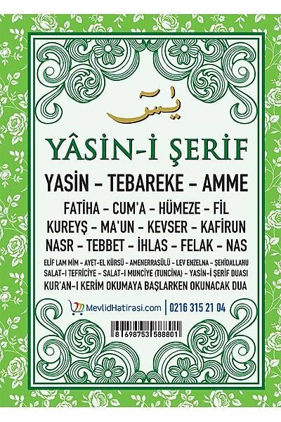 YEÞÝL 3'lü Yasin Seti / Þeker Kutusu + Tespih