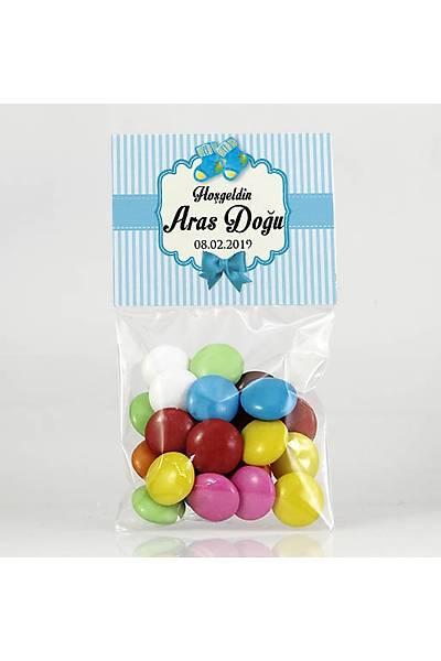 Bonibon Çikolata - Mavi Temalý - Patik