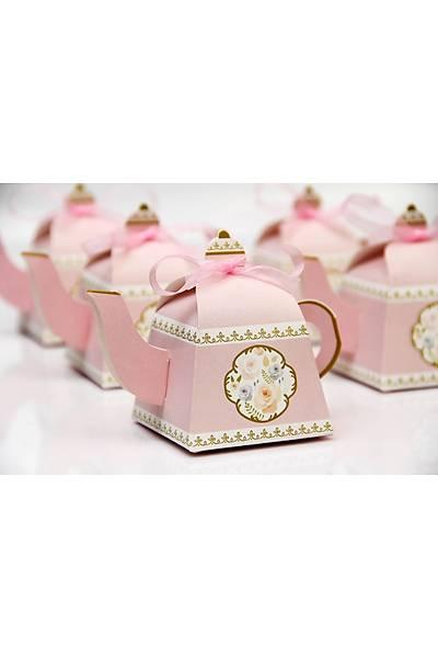 Çaydanlık  Şeker Kutusu - Pembe