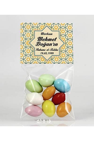 Renkli Çikolatalý Badem - Selçuklu Desenli