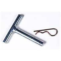 Axle and clip for roller kit