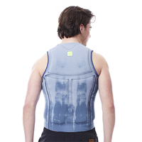 JOBE REV.COMP VEST MEN (ZIPPER) BLUE