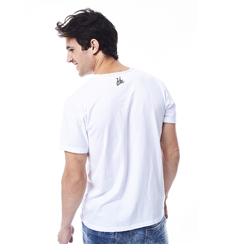 JOBE T-SHIRT SCRIPT MEN WHITE
