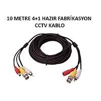 10 Metre Hazýr 4+1 Cctv Fabrikasyon Kablo / 1146