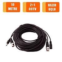 10 Metre Hazýr Fabrikasyon 2+1 Cctv Kablo / 1142