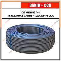 100 Metre 4+1 Cctv BAKIR+CCA Kablo  (1x 0.22 BAKIR + 4*0,22 mm CCA)  / 1827