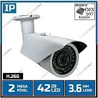 Safecam IC-6188 2 MP 42 Led 3.6 MM Lens SONY IMX307 Sensor Metal Kasa H.265 IP Kamera - 1820S