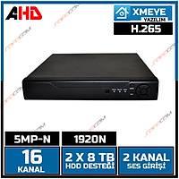 Safecam VR-AHX51601 16 Kanal 5MP-N 1920N AHD DVR KAYIT CÝHAZI XMEYE -1803S