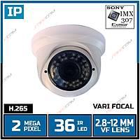 Safecam IC-3488 2 MP 36 Led 2.8-12 MM Lens SONY IMX307 Sensor Plastik Dome Kasa H.265 IP Kamera   (Kasa ve Para okuma) - 1858S
