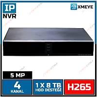 SAFECAM 5108-NH1 XMEYE 4 KANAL 5 MP NVR H265+ / 1840S