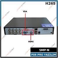 Safecam HVR-G08E 5MP-N 8 KANAL P6 AHD H265 DVR Kayit Cihazý / 1768S