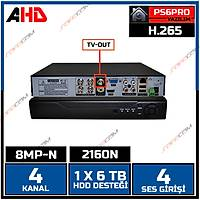 Safecam HVR -P04 8MP-N 4 KANAL P6 AHD H265 DVR Kayit Cihazý / 1761S
