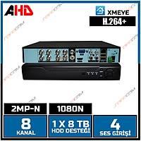 Safecam VR-AHD1108 8 Kanal 2MP AHD 1080N Dvr Kayit Cihazý H.264+/ 1628S