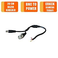 Bnc To Erkek Power Güç Soketi 20 Cm Kablo / 1297