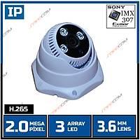 Safecam IC-3788 2 MP 3 Array Led 3.6 MM Lens SONY IMX307 SENSOR  H.265 IP Dome  Kamera - 1821S