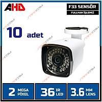 Safecam PM-8116  2 MP 36 Led AHD Kamera-1726S  X  10 ADET