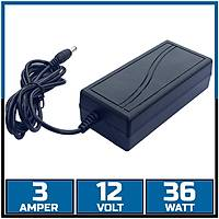 12V 3 Amper Plastik Kasa Adaptör  /  1092