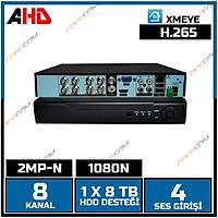 Safecam VR-AHD1108 8 Kanal 2MP AHD 1080N Dvr Kayit Cihazý / 1628S