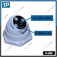 Safecam IC-3788 3 MP 3 Array Led 3.6 MM Lens SONY IMX307 SENSOR  H.265 IP Dome  Kamera - 1821S