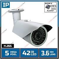Safecam IC-6199 5 MP 42 Led 3.6 MM Lens SONY IMX335 Sensor Metal Kasa H.265 IP Kamera - 1823S