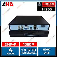 Safecam HVR-G04E 1080P  4 KANAL P6 AHD H265 DVR Kayit Cihazý / 1767S