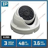 Safecam IC-8996 3 MP  48 IR Led 3.6 MM Lens IP Dome Kamera H265-1706s