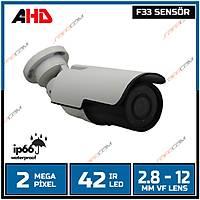 Safecam PM-9018 2 MP F33 42 LED 2.8-12MM VF AYARLABÝLÝR LENS AHD KAMERA-1686s