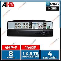 Safecam AHD-4108 8 Kanal 4 MP / 5MP Hybrid AHD Dvr  Kayit Cihazý / 1664S