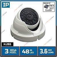 Safecam IC-8996 3 MP  Sony IMX-307 48 IR Led 3.6 MM Lens IP Dome Kamera-1706s