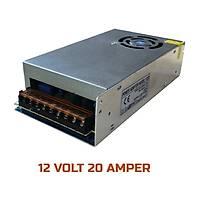 20 Amper Switch Mode Metal Kasa Fanlý  Adaptör   /  1169
